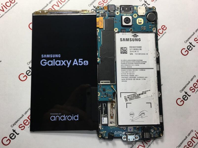 Процесс замены стекла на Samsung A5 2016